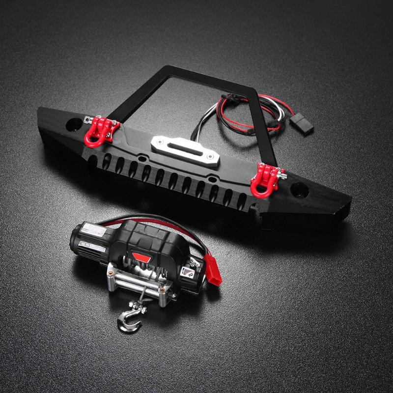 2018 Fashion RC Cars Assemble Accessories Set Front Bumper Bright LED Lamp Winch Controller Kit for RC Cars Lovers Ideal Gifts