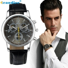 Fabulous men watches 2016 luxury brand dress leather strap quartz watches men for reloj relogio zegarek women watch shipping