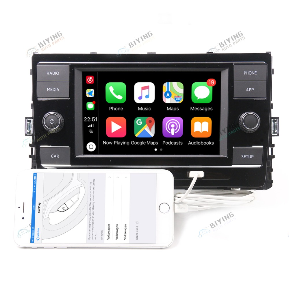 Carplay MIB Radio 5GG035280E For VW Golf 7 Sportsvan CarPlay Mirrorlink 1GB 5GG 035 280E D