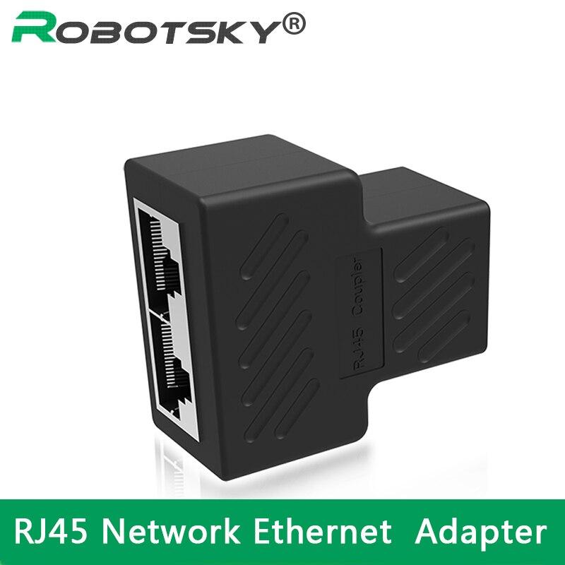 цена на Cat6 RJ45 8P8C Plug To Dual RJ45 Splitter Network Ethernet Patch Cord Adapter With Shield RJ45 Network Ethernet