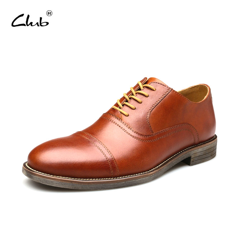 Club Mens Shoes Genuine Leather Lace-up Formal Shoes Mens Dress Oxford Shoes Men Derby Shoes Large Sizes Zapatos Hombre classic style classic mens dress shoes deep coffee color genuine leather oxford shoes for men lace up pointy loafers high heels