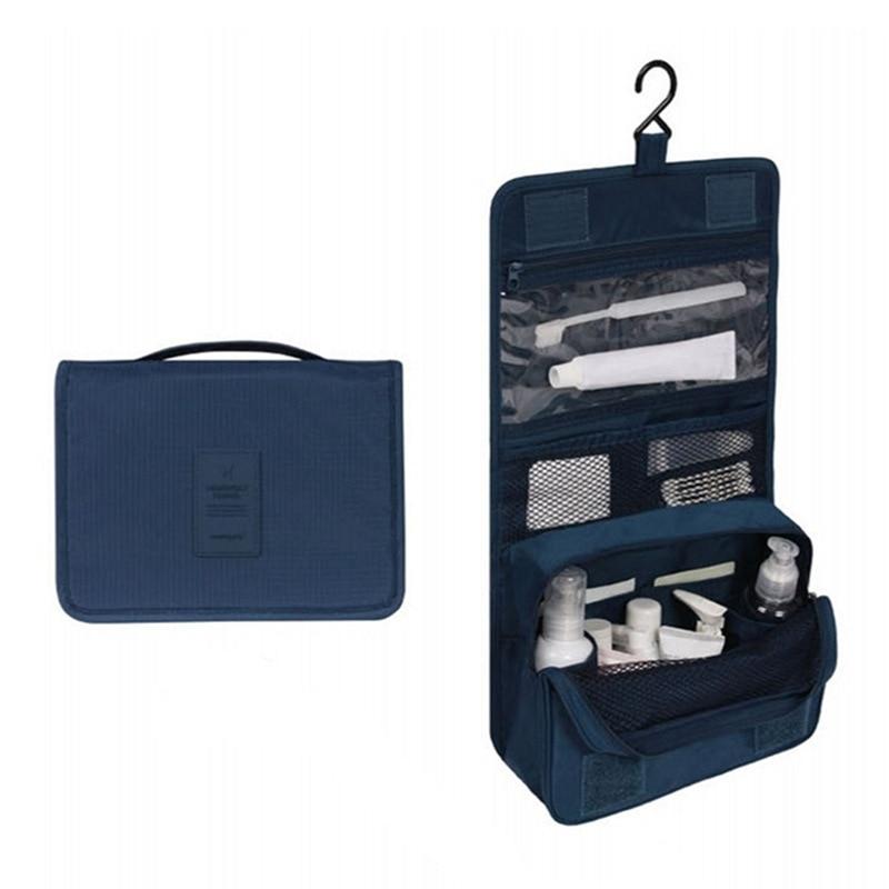 High-capacity Travel Make-up Portable Bag Cosmetic Toiletry Oxford Pouch Waterproof Storage handbag Wash hanging Organizer