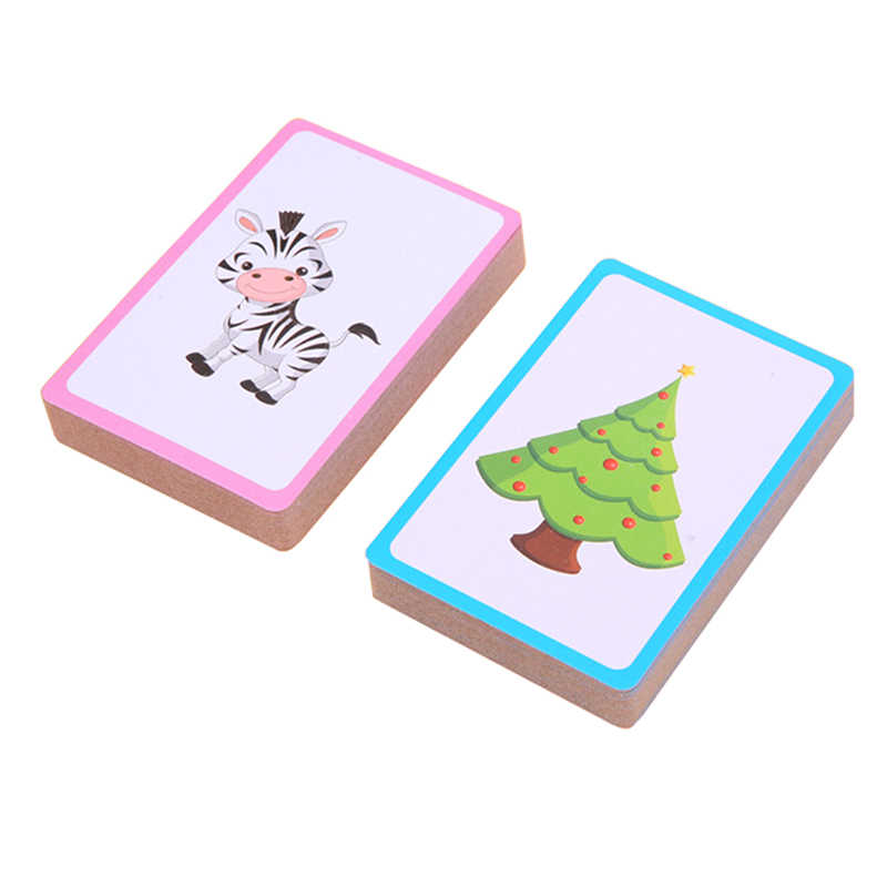 Animal Plant Cognitive Montessori Toys Colorful Learning Card Early Flash Learning Educational Pocket Card Toys For Kids