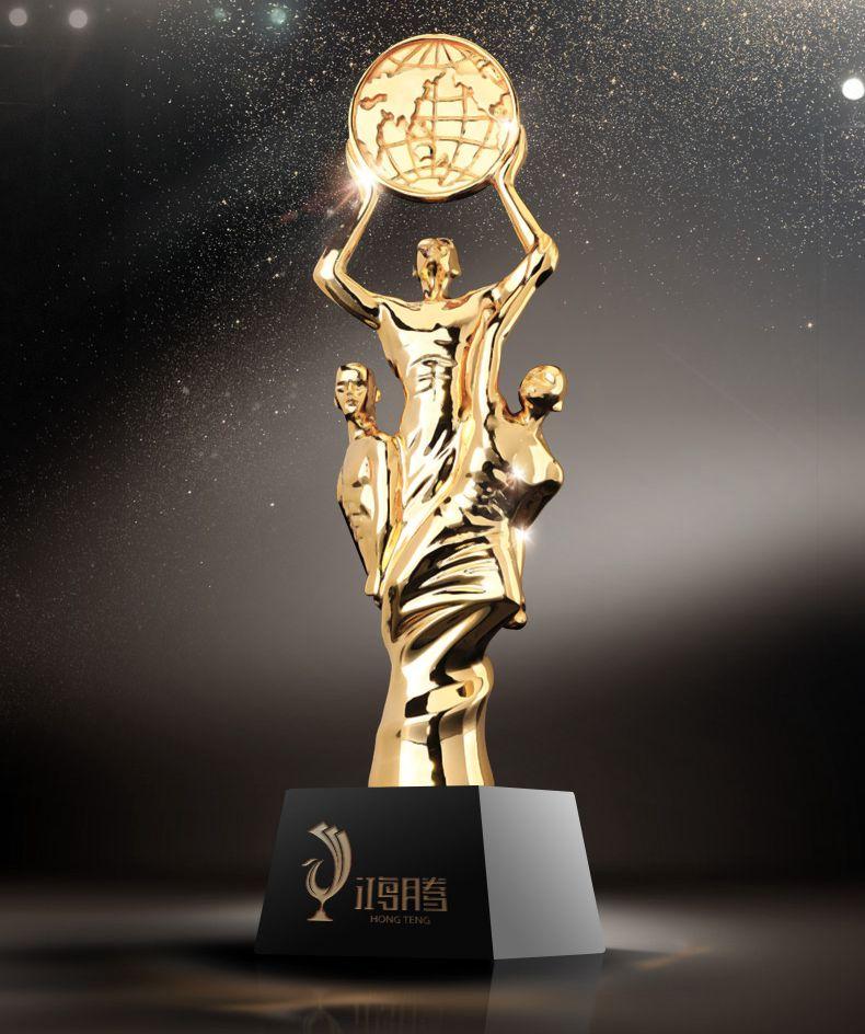 Haute qualité! 30 CM Oscar petit Golden Man trophée Collaboration cristal trophée métal résine trophée, livraison gratuite!