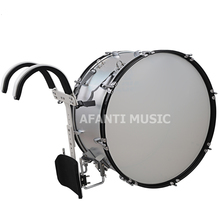 Afanti Music 24 inch Silver Marching Drum MAD 103