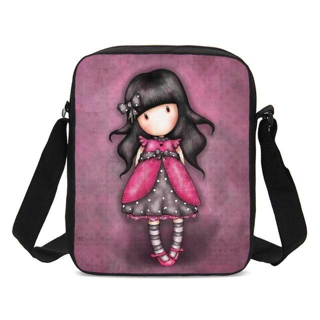 990e911b6307 Cute Cartoon Girl 3D Printing Women Handbags Girls Small Sling Bags  Children School Bags Crossbody Purse Hand Bag Sac A Main