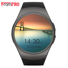 KW18 Smart Watch Fully Rounded Android IOS Bluetooth Reloj Inteligente SIM Card Heart Rate Monitor Watch Clock Mic Anti lost