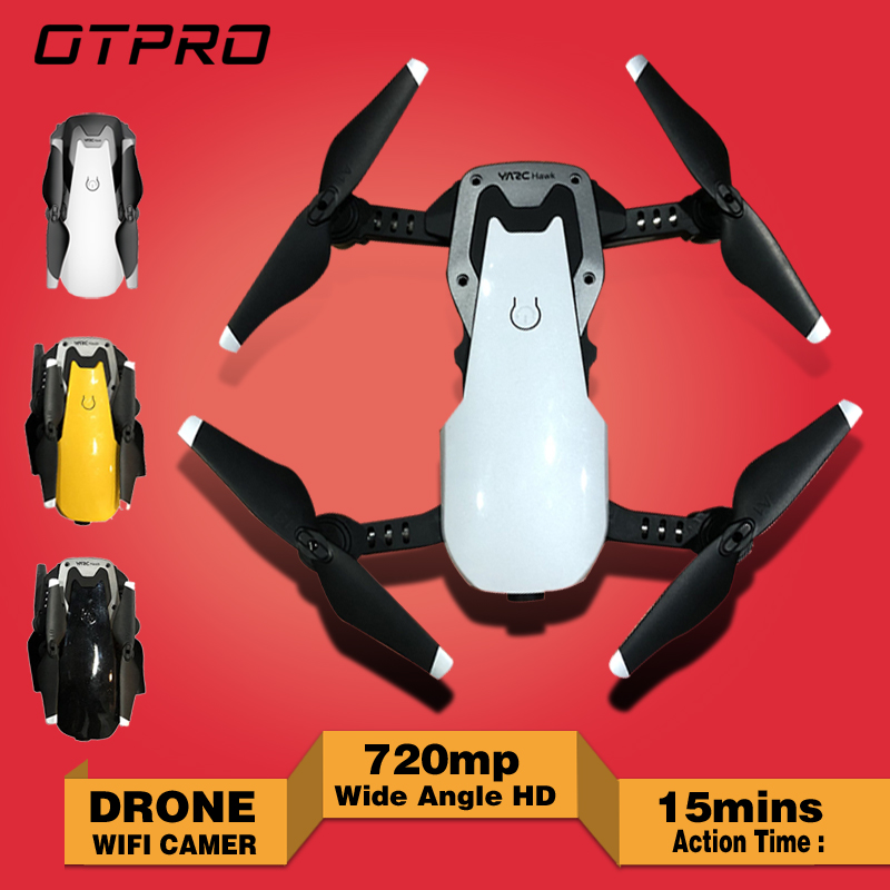 Quadrocopter WIFI <font><b>Dron</b></font> <font><b>FPV</b></font> With Wide Angle HD Camera High Hold Mode Foldable Arm RC Quadcopter Drone VS HY107 XS809HW E58 x41 image