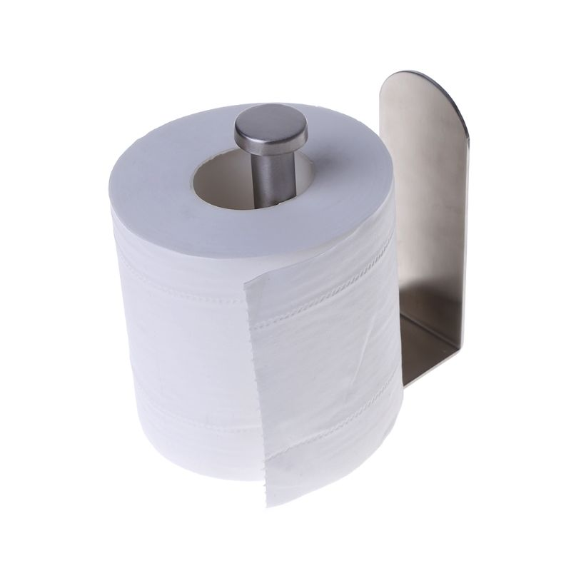 Us 7 02 23 Off European Style Adhesive Vertical Paper Towel Holder Stainless Steel Wall Mount Bathroom Kitchen Toilet Tissue Roll Storage Rack In