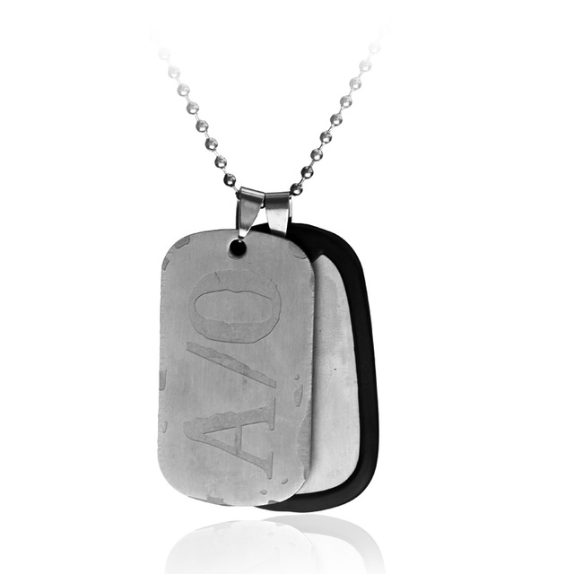 A/O Dog Tags Men's Pendants Necklaces