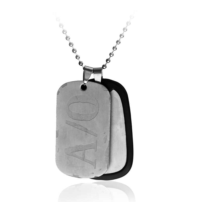 Anime <font><b>GANGSTA</b></font> Nico A/O Dog Tags Pendants Necklaces for Man Hip Hop Jewelry Beads Chain Necklace image
