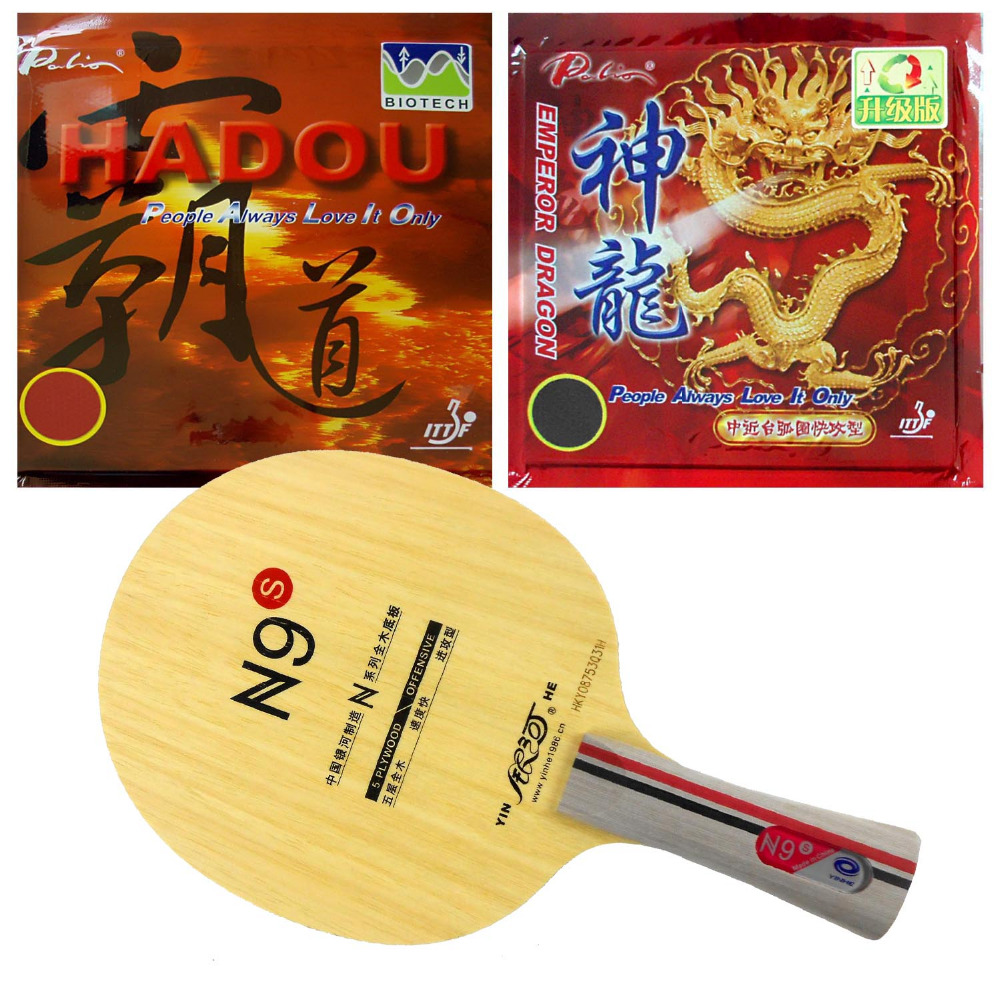 Pro Table Tennis PingPong Combo Racket Yinhe N9s with Palio Hadou BIOTECH +Emperor Dragon Long Shakehand FL yinhe milky way galaxy n9s table tennis pingpong blade long shakehand fl