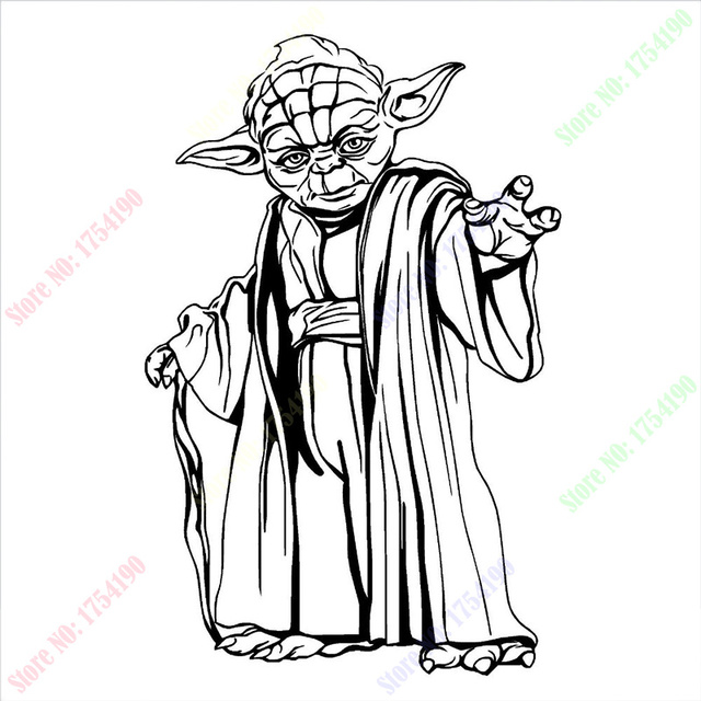 Hot sale new yoda star wars wall art sticker wall decal diy home decoration wall mural