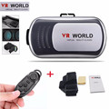 Hot Selling VR Headset Virtual Reality VR WORLD Goggles 3D Glasses Google Cardboard Remote Portable for Smart Phones Wholesale