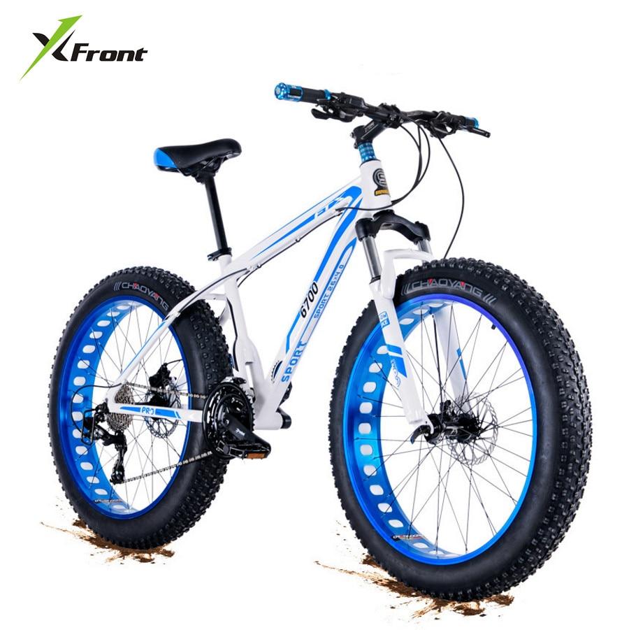 New Brand Aluminum Alloy Mountain Bike 26 Wheel 4.0 Fat Tire 27 Speed Beach Snow Bicycle Downhill Oil Disc Brake MTB Bicicleta