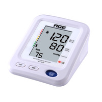 AGE Automatic Upper Arm Blood Pressure Monitoring Sphygmomanometer Digital LCD Display Accurate Pulse Rate Monitor Health Care