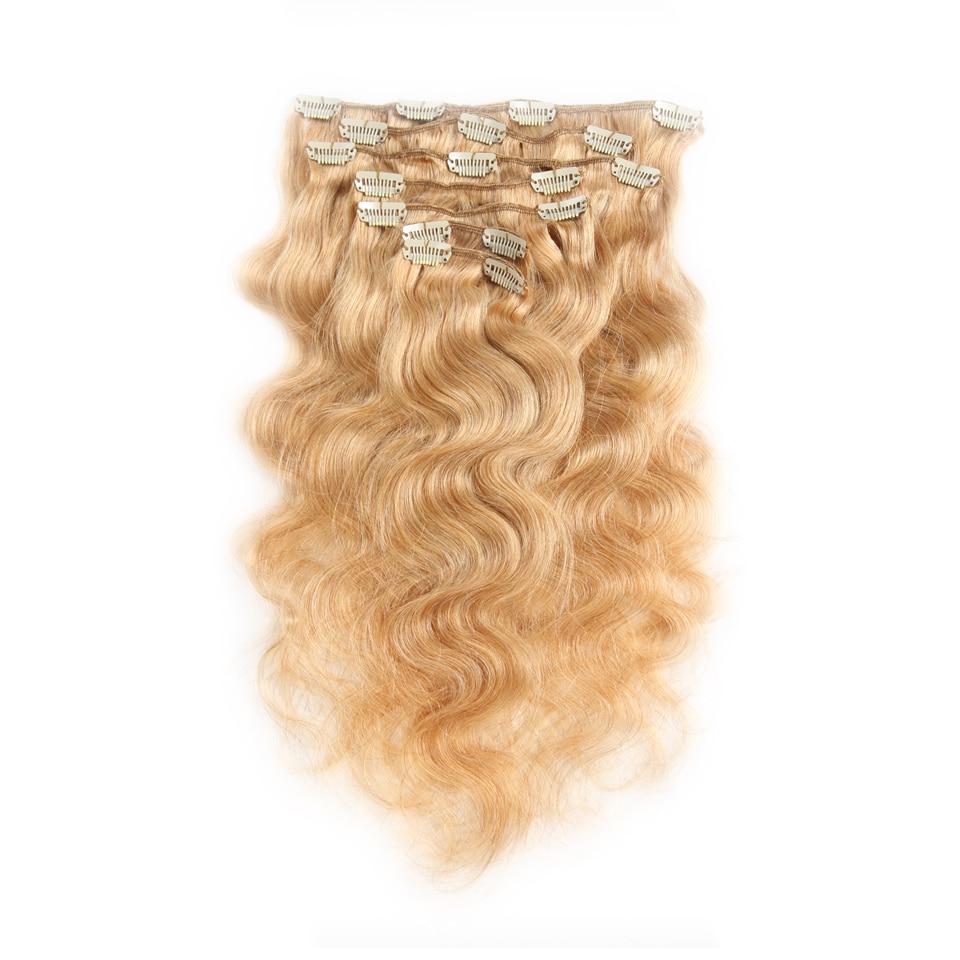 Fashion Plus Clip In Human Hair Extensions Natural Hair Clip Ins - Włosy ludzkie (dla białych) - Zdjęcie 6