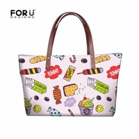 FORUDESIGNS Cake Girls Shoulder Bag Ice Cream Pink Bags Handbag Women Korean Style Kawaii Messenger Bag Fashion Totes Wholesale