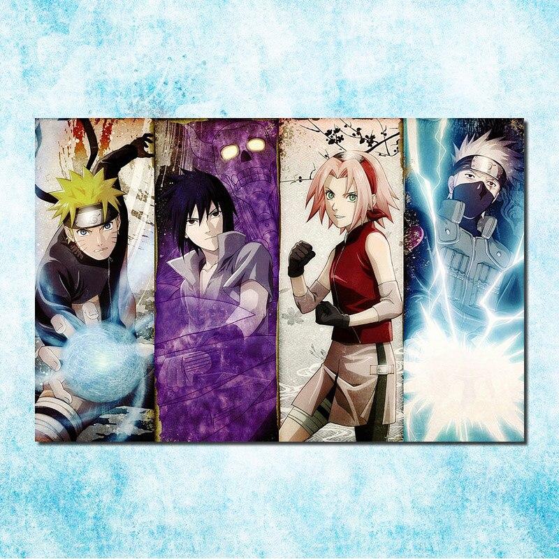 """Naruto v.s Sasuke poster wall art home decor photo print 24x24/"""" inches"""