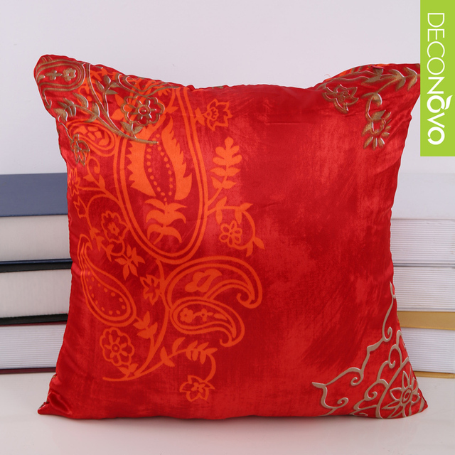 Chinese pillow covers new design polyester red pillow cover 15 ...