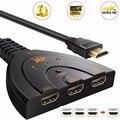 4K * 2K 3D Mini 3 порта HDMI-совместимый переключатель 1.4b 4K сплиттер 1080P 3 в 1 порт концентратор для DVD HDTV Xbox PS3 PS4