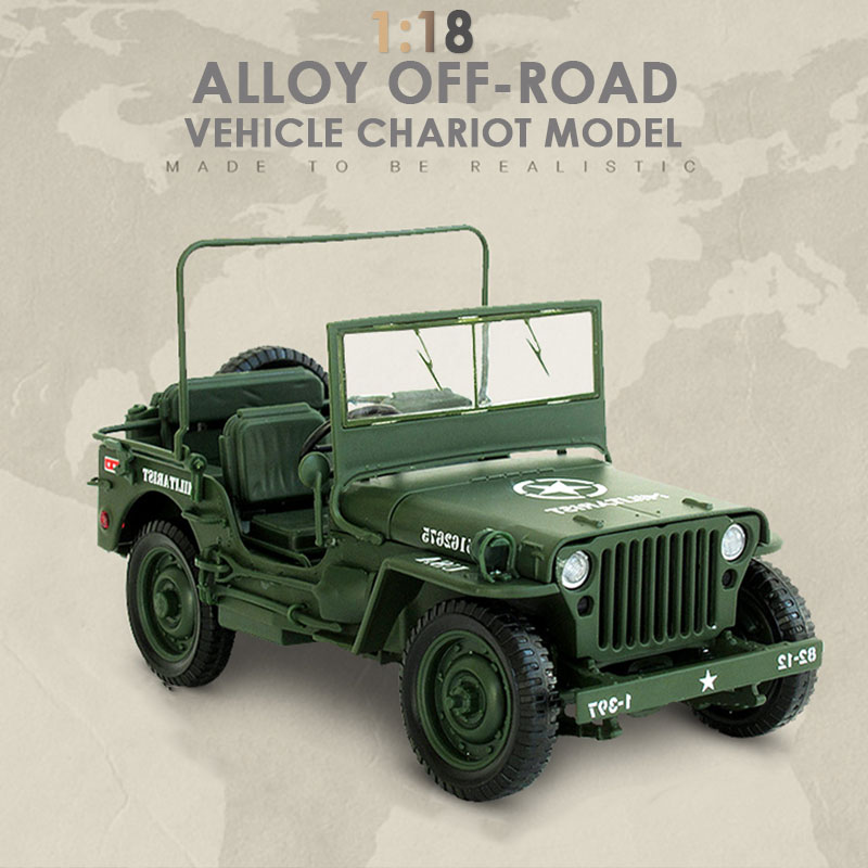 Toy Car Military Tactical Car Cultivate Interest Decoration Interesting Cool Hobby Simulation Fun Army Green Alloy Collection