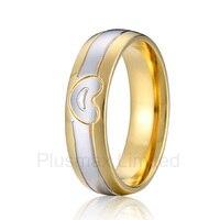 anel feminino heart shape men wedding band men gold color finger ring