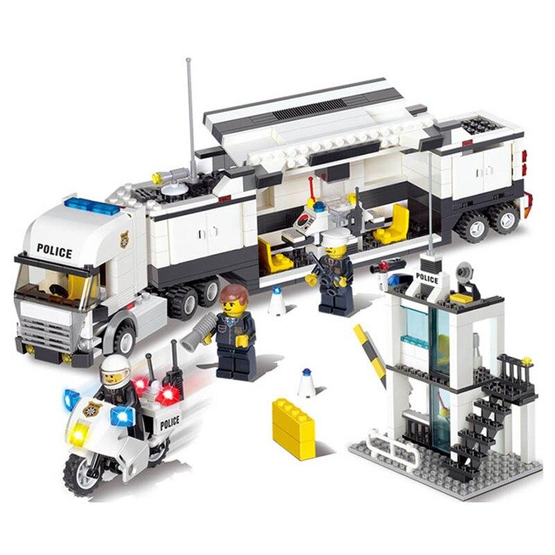 100% Quality 473pcs Building Blocks Police Station Prison Figures Compatible Legoed City Enlighten Bricks Toys For Children Trucks Blocks Model Building