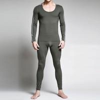2017 Mens Long Johns Sexy Cotton Men Thermal Underwear Sets Brand Clothing Patchwork Termica Long John