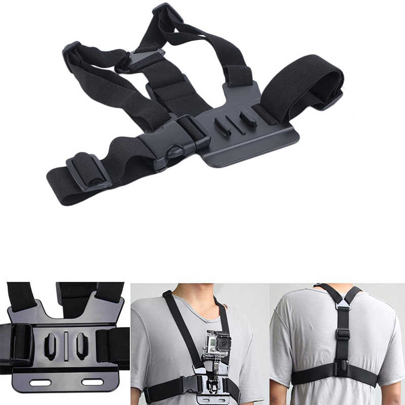 Chest Strap Mount Belt for Gopro Hero 5 4 Xiaomi yi 4K Action Camera Chest Mount Harness for Go Pro SJCAM SJ4000 Sport Cam Fix