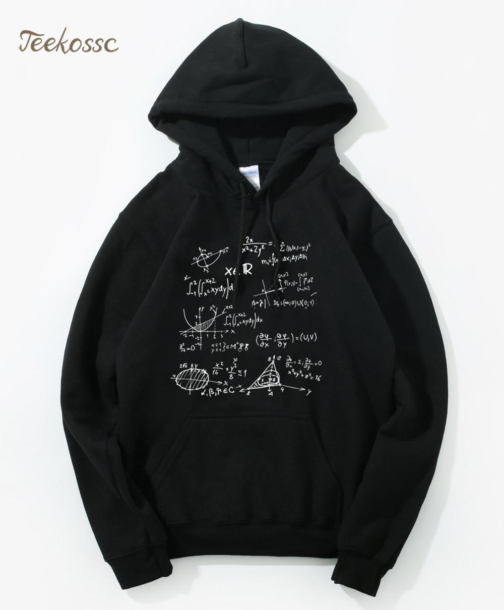Adult Science Funny Math Formulas Hoodie Hoodies Sweatshirt Men 2020 Winter Autumn Hooded Hoody Harajuku Divertida Sportswear