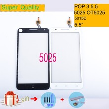 цены For Alcatel One Touch Pop 3 5.5 OT5025 5025D 5025 Touch Screen Touch Panel Sensor Digitizer Front Glass Touchscreen NO LCD
