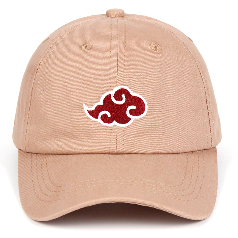 Anime Lovers Akatsuki Logo Dad Hat Uchiha Family Logo 100% Cotton Embroidery Baseball Caps Black Snapback Hat Red Cloud 2