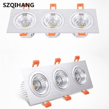 Led Down Light Ceiling Lamps 7W/2*7W/3*7W Dimmable Square Downlights Commercial Lighting Clothing Store Warm Cold White