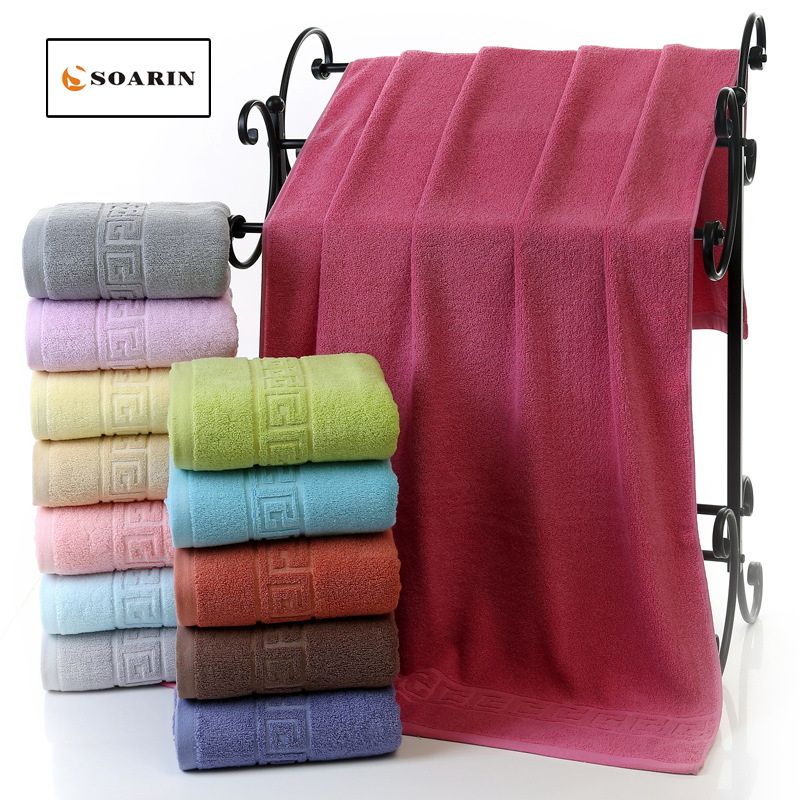 soarin cotton bath towel solid jacquard quick dry towel serviettes de plage pour adultes travel towel