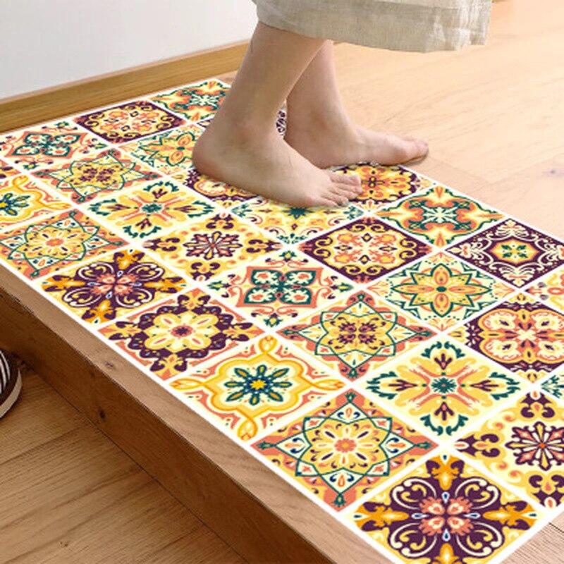 Moroccan Tile Style Floor Mat Carpet