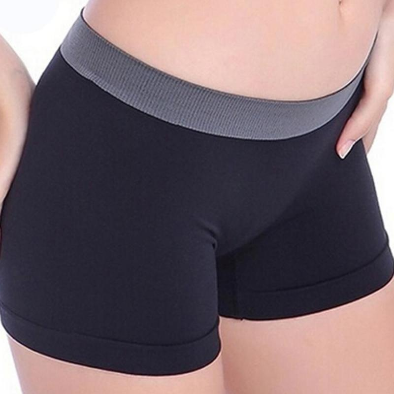 Ms. Short Pants Styish Girls High Waist Pure Color Breathable Women Seamless Comfy Boxers Sexy Short Pants
