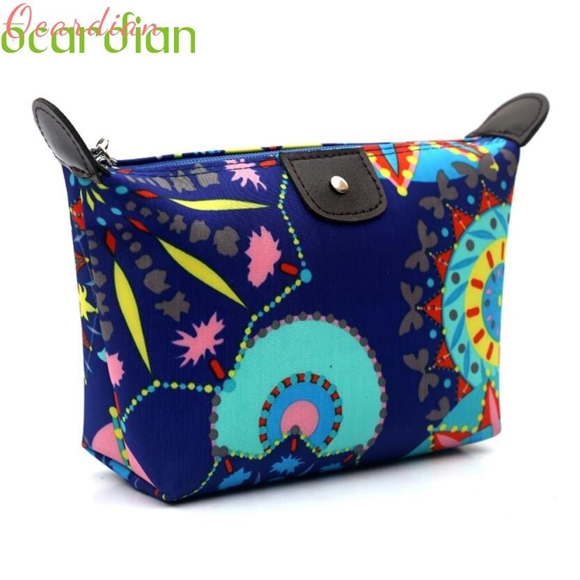 Women Travel Make Up Cosmetic Pouch Bag Clutch Fashion Handbag Casual Purse Drop Shipping Wholesale