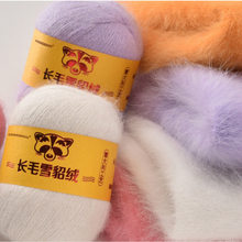Hight quality 50G+20G Fall and Winter Plush Mink Cashmere Genuine Yarn Mink Thread Extra Soft Warm For Hand Knitting Scarf Vest(China)