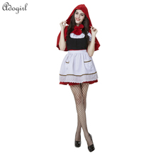 Adogirl Real Photos cosplay maid Little Red Riding Hood Halloween party queen fitted uniforms temptation Easter carnival Day