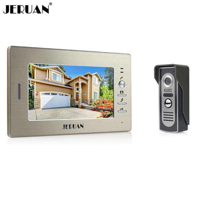 Brand New 7 inch color screen video doorphone sperakerphone intercom  system 1 monitor + 700TVL COMS camera  FREE SHIPPING