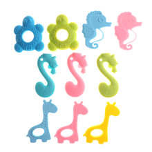 Silicone Teething Collares Pacifier Clips Cute Baby Teether Necklace Chew Toy