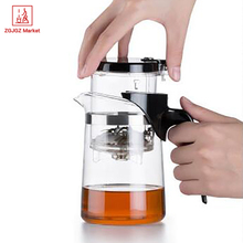 Samadoyo High Grade Chinese Kung Fu Teapot Set 500ml Glass Elegant Tea Pot Sets Travel Office Glass Tea Cup Food Grade SAG-08