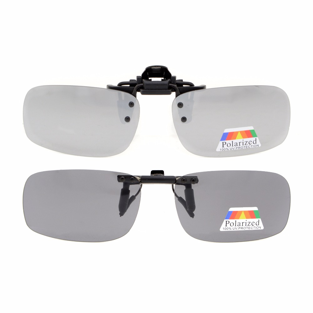 caf25abf46 JQ1 Eyekepper Flip up Clip on Sunglasses Polarized 53x33 MM 2 Pack Metal Glasses  Clip-in Sunglasses from Apparel Accessories on Aliexpress.com
