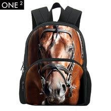 Coole Kinder 3D Tier Filz Rucksack herren Rucksack Crazy Horse Tasche Für Schule Mädchen Student 12 Zoll Bagpack Einzelhandel