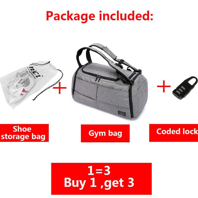 15 inç spor çanta çok fonksiyonlu erkek spor çantaları kadın spor çantaları Laptop sırt çantaları el seyahat saklama çantası ayakkabı cebi ile Yoga