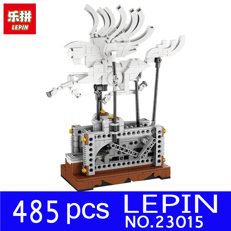 LEPIN 23015 485Pcs Technic Series The Pegasus Automaton Mechanical Flying Horse Building Blocks Bricks Pegasus Toys for Children in stock lepin 23015 485pcs science and technology education toys educational building blocks set classic pegasus toys gifts
