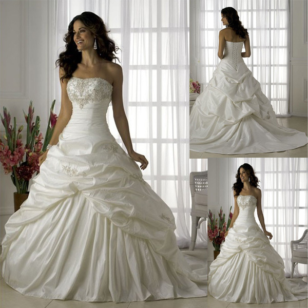 Wedding Dress Top Type Full Body Ruffle Embroidered Slim Waist Fluffy Short Trailing