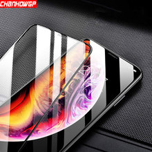 5D Full Glue Curved Tempered Glass For iPhone X XS Max XR 7 8 6 6s Plus Protective Glass On iPhone 5 5s 5C SE Screen Protector(China)