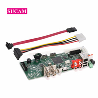 5MP N 4Channel DVR Digital Video Recorder Board PCB for 2MP 4MP 5MP AHD TVI CVI Analog Camera Support P2P Remote Review